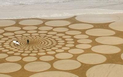 Giant Sand Art Team Building Event Image
